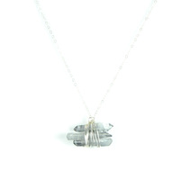 Robyn Rhodes Grey Necklace in Silver