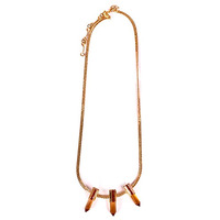Serefina Dagger Station Necklace in Champagne