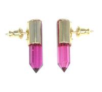 Serefina Crystal Dagger Studs in Ruby