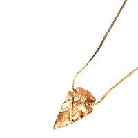 Serefina Infinity Loop Arrowhead Necklace in Gold
