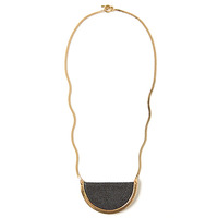Serefina Stingray Crest Necklace in Black