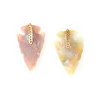 Serefina Arrowhead Studs in Earth