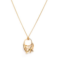 Viento Tumbleweed Pendant in Gold