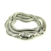 Viento Serpent Bracelet in Rhodium