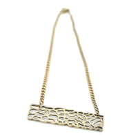 Viento Driftwood Necklace in Bronze