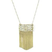 Viento Driftwood Chain Necklace in Bronze