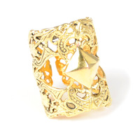 Viento Maja Ring in Antique Gold