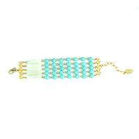 David Aubrey 5-Strand Turquoise and Glass Bead Bracelet