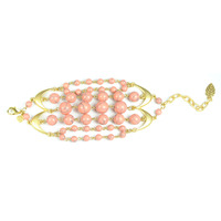 David Aubrey Multi-Strand Beaded Bracelet in Pink