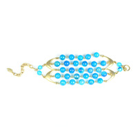 David Aubrey Blue Lace Agate Bracelet