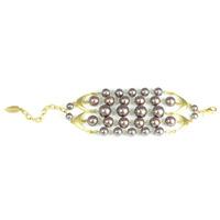 David Aubrey Multi-Strand Resin Pearl Bracelet