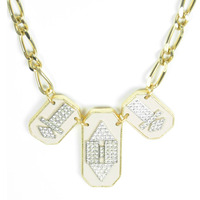 Sandy Hyun Pink Deco in Three Necklace