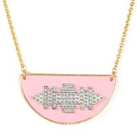 Sandy Hyun Pink Deco Small Collar