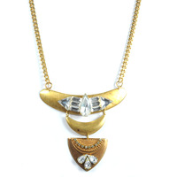 Sandy Hyun Triple Deco Gold Necklace
