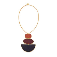 Sandy Hyun Geometric Three Drop Necklace