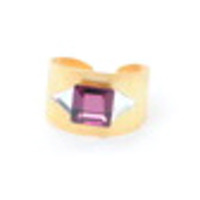 Sandy Hyun Purple Square Ring