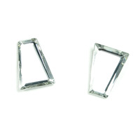 Sandy Hyun Beveled Mirror Gem Earrings