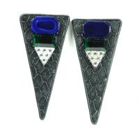 Sandy Hyun Colorful Dagger Earrings