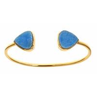 Margaret Elizabeth Teardrop Bangle in Blue Druzy