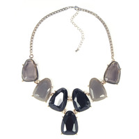 Urban Gem Shades of Grey Chunky Necklace