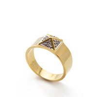 nOir Jewelry Small Pave Pyramid Ring