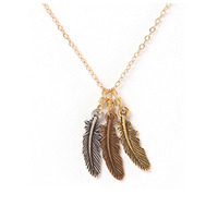 Frolick Triple Feather Necklace