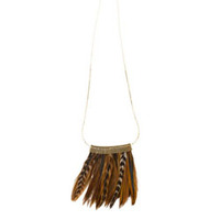 Serefina Mesh Feather Necklace