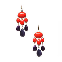 David Aubrey Red and Blue Drop earrings