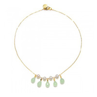 Wendy Mink Pearl and Aqua Necklace