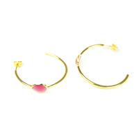 Lucas Jack Orbit Earrings in Burgundy