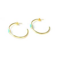 Lucas Jack Orbit Earrings in Blue Opal