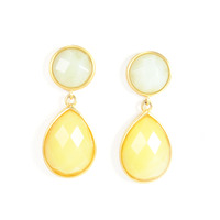Lucas Jack Double Drop Earrings in Yellow
