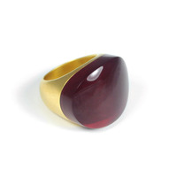 Lucas Jack Arch Ring in Burgundy