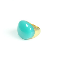 Lucas Jack Arch Ring in Blue Opal