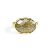 Lucas Jack Simple Large Oval Ring in Grey