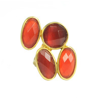 Lucas Jack Quad Gem Ring in Carnelian