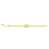 Lucas Jack Large Square Stone Bracelet in Green