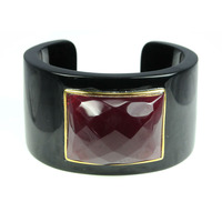 Lucas Jack Solid Cuff in Black and Burgundy