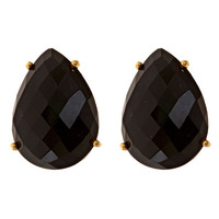 Margaret Elizabeth Teardrop Studs in Black