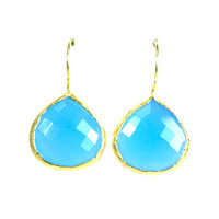 Margaret Elizabeth Teardrop Bezels in Light Blue