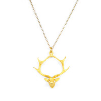 Angel Court Devotion Necklace in 24kt Gold Plate