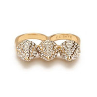 CC Skye Pave Triple Spike Ring