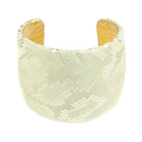 Ted Rossi Large Faux Snake Champagne Cuff