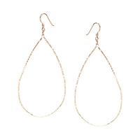 Charlene K Hammered Gold Drop Earrings