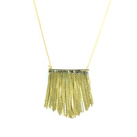 Urban Gem Gold Fringe Necklace