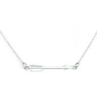 Urban Gem Silver Arrow Necklace