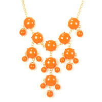 Urban Gem Circles Bib Necklace in Orange
