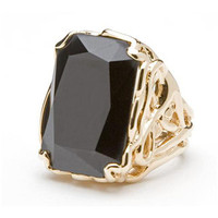 CC Skye Vintage Showstopper Ring in Black and Gold