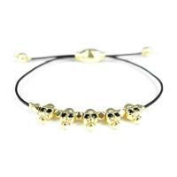 Urban Gem Mini Skulls Leather Bracelet