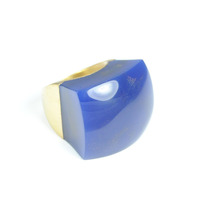 Lucas Jack Rock Ring in Lapis and Gold